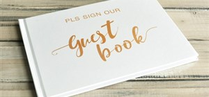 Customised Wedding Guest Book to Remember your Special Day